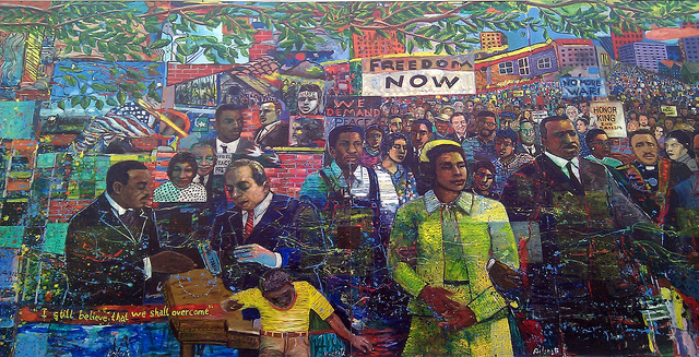 Celebrating black history month for African american mural