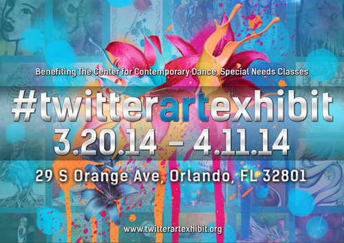 Twitter Art Exhibit 2014, Orlando, FL